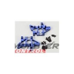 Traxxas T/E Maxx Rear Bulkheads Lft & Rt Blue Alum.