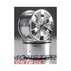 HPI Q6 Wheel Chrome Savage (2)