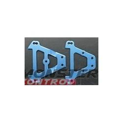 Traxxas Front/Rear Aluminum Bulkhead Anodized Blue Revo