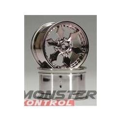 HPI Spike Monster Wheel Black Chrome 83X56MM (2)
