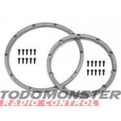 HPI Wheel Bead Lock Rings Silver Baja