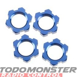Traxxas Wheel Nuts Splined 17mm Blue-Anodized Revo/T-Maxx 3.3/E-
