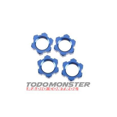 Traxxas Wheel Nuts Splined 17mm Blue-Anodized Revo/T-Maxx 3.3/E-