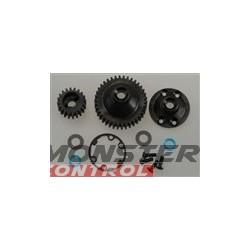 Traxxas Diff Gear/Side Cvr/Gasket/Output Gear Seal Jato