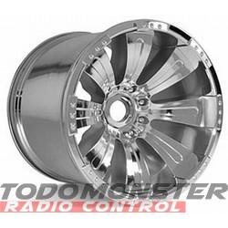 Axial 8-Spoke Oversize Wheel Chrome