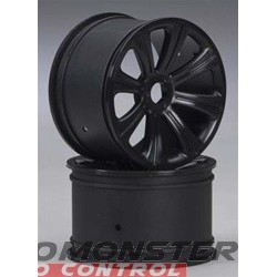DuraTrax Rims Black 17mm RTX27 Raze ST (2)