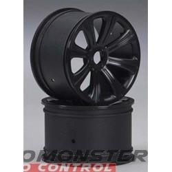 DuraTrax Rims Black 17mm RTX27 Raze ST (2)
