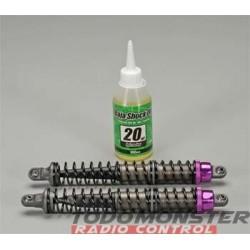HPI Aluminum Threaded Shock Set 137-207MM Baja (2)