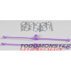 Dubro Body Klip Retainers Purple (2)