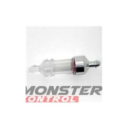 Imex Delux Large Clear Fuel Filter Chrome