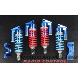 Integy MSR6 Piggyback Shock Set (4) Revo Blue Alum