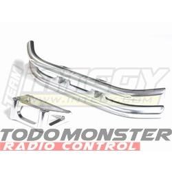 Integy Alloy Front Bumper W/Mount Silver Revo