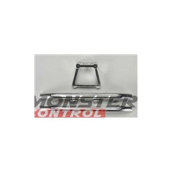 Integy Alloy Rear Bumper W/Mount Silver Revo