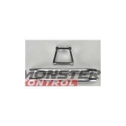 Integy Alloy Rear Bumper W/Mount Silver Revo