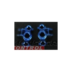 Integy Alloy Steering Block Left & Right Blue Revo