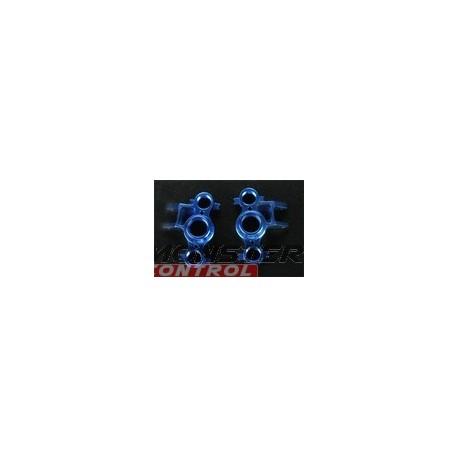 Integy Alloy Steering Block Left & Right Blue Revo