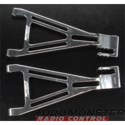 Integy Alloy Rear Left Rght Lower Arms Revo Silver