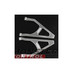 Integy Alloy Rear L & R Upper Arm Revo Silver