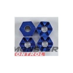 Integy Alloy Hex Wheel Hub (4) Revo Blue