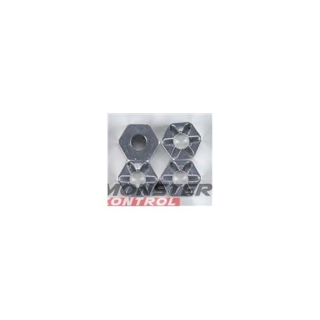 Integy Alloy Hex Wheel Hub (4) Revo Silver