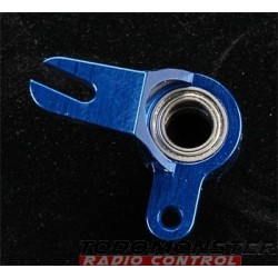 Integy Ball Bearing Throttle Mix Arm Blue Revo