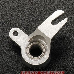 Integy Ball Bearing Throttle Mix Arm Silver Revo