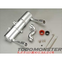 Integy Twin Exhaust Tune Pipe Set Revo