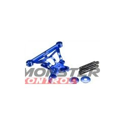 Integy EVO3 Front Body & Pin Mount Blue Revo 3.3