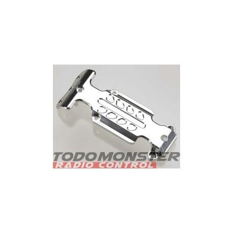 Integy EVO3 Rear Skid Plate Silver Revo 3.3
