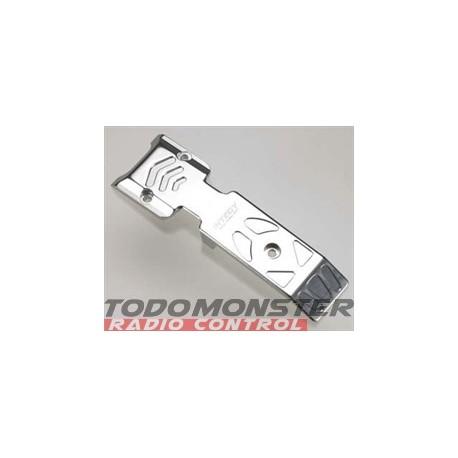 Integy EVO3 Mid-Front Skid Plate Silver Revo 3.3