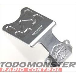 Integy EVO3 Front Skid Plate Silver Revo 3.3