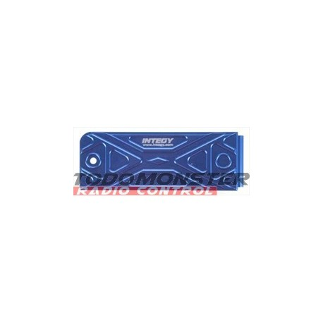 Integy EVO3 Receiver Box Skid Plate Blue Revo 3.3