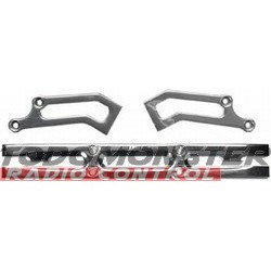 Integy Heavy Duty Rear Bumper Silver T-Maxx 3.3