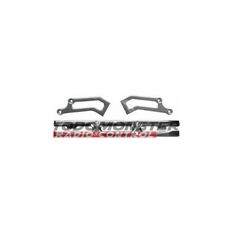 Integy Heavy Duty Rear Bumper Silver T-Maxx 3.3