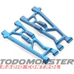 Golden Horizons Alum Front Lower Arms Blue Jato (2) 2.5/3.3