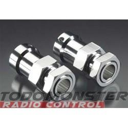 Integy Alloy EXT Rear Wheel Adapter Silver HPI Baja 5B