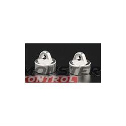 Golden Horizons Aluminum Shock Caps Silver Revo (2