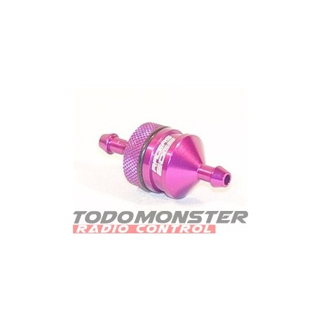 Racers Edge Small Fuel Filter W/ Clip Purple
