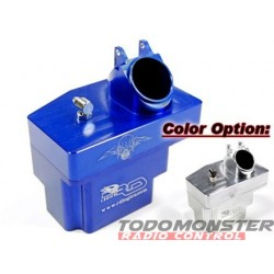 RD Logic Aluminum Fuel Tank for Revo (Flip Top Style) in Blue