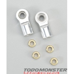 Golden Horizons Alum Shock Rod End Silver Revo (2)