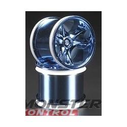RPM Clawz Blue Chrome Wheel Rustler/Stampede Rear