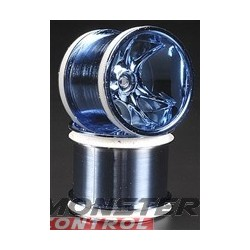 RPM Clawz Blue Chrome Wheel Rustler/Stampede Front