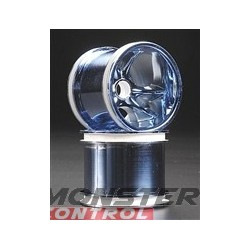 RPM Blue Chrome Rims Nitro Rustler Stampede Frnt