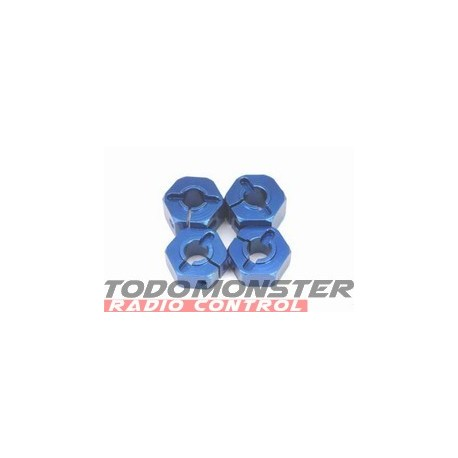 ST Racing 12mm Clamp Wheel Hex Adapter (Blue)