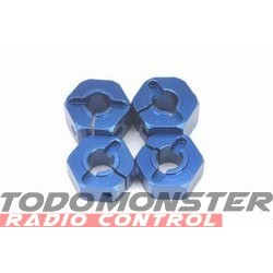 Traxxas Nuts Flanged Alum Blue Anodizd 5MM (4) T-Maxx 2.5