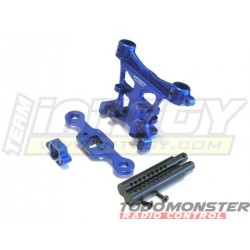 Integy EVO3 Rear Body & Pin Mount Blue Revo 3.3