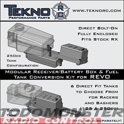 Tekno Rx/Battery Box/Fuel Tank Conversion Revo