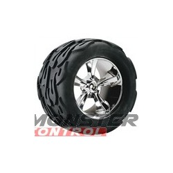 "Hot Bodies UFO Wheel Fireball Tire 7"" (2)"