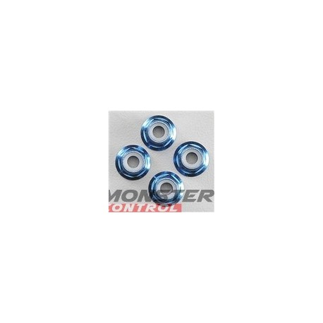 Traxxas Aluminum Flanged Locknuts Blue 4MM