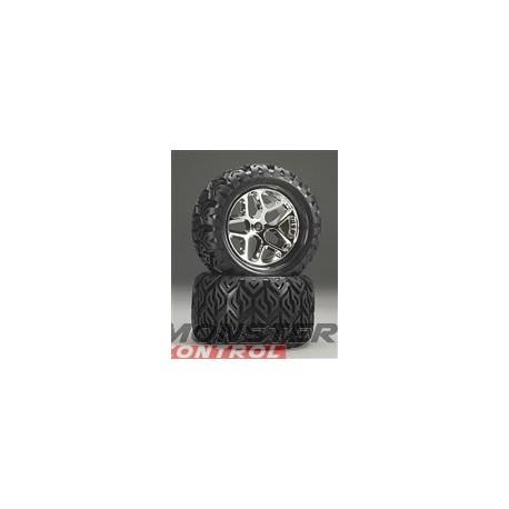 """Hot Bodies V-Block Tire W/ Blender Wheel 7"""" (2)"""